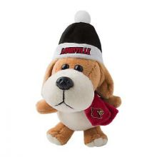 Louisville Cardinals 4 inch Plush Dog Ornament
