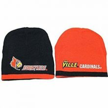 NCAA Licensed Louisville Cardinals Reversible Knit Beanie Hat Cap