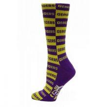 LSU Tigers Checkerboard  Dress Socks