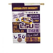 LSU Tigers Vertical Linen Fan Rules House Flag