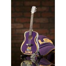 LSU Tigers 1:4 Scale Mini Guitar