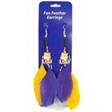 LSU Tigers Fan Feather Earrings