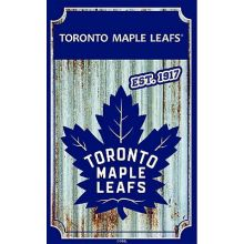 Toronto Maple Leafs Corrugated Metal Sign Ornament