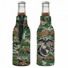 United States Marines 12 ounce Bottle Hugger Koozie Cooler
