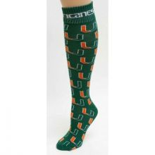 Miami Hurricanes Repeater Dress Socks