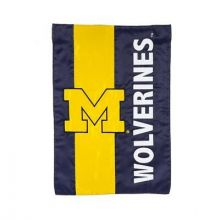 Michigan Wolverines Embellish House Flag