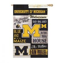 Michigan Wolverines Vertical Linen Fan Rules House Flag