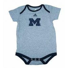 Michigan Wolverines Gray Distressed Infant Bodysuit (24Mo.)