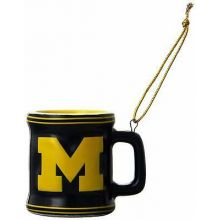 Michigan Wolverines Ceramic Mini Mug Ornament