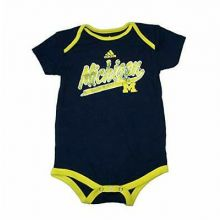 Michigan Wolverines Navy Distressed Infant Bodysuit (18 Mo.)