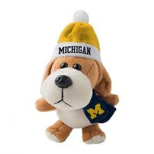 Michigan Wolverines 4 inch Plush Dog Ornament