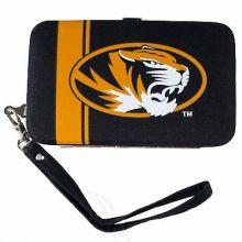 """Missouri Mizzou Tigers Distressed Wallet Wristlet Case (3.5"""" X .5"""" X 6"""")"""