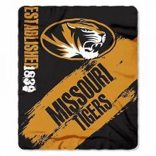 Missouri Mizzou Tigers Established  Fleece Throw Blanket