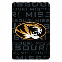 Missouri Mizzou Tigers Large Logo Repeater Fleece Throw Blanket