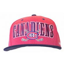 Montreal Canadiens Block Script Adjustable Hat