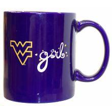 West Virginia Mountaineers Blue Mountaineers Girl 120z Mug