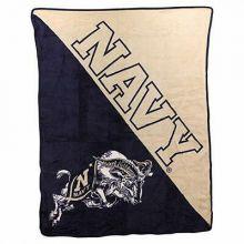 Navy Midshipman Half Tone Super Plush Fleece Throw