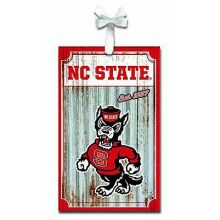 North Carolina State Wolfpack Corrugated Metal Ornament