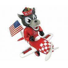 North Carolina State Wolfpack Mascot Airplane Ornament