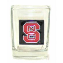 North Carolina State Wolfpack Pewter Logo Square 2 oz Shot Glass