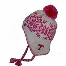 NCAA Officially Licensed Tennessee Lady Volunteers Pink & White Snowflake Pom wi