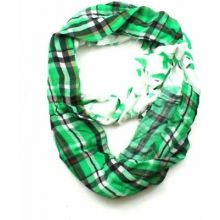 North Dakota Fighting Sioux Tartan Plaid Infinity Scarf