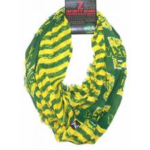 North Dakota State Bison Striped 2 Tone Infinity Scarf