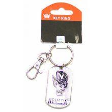 Nevada Wolfpack Glitter Dog Tag Keychain