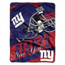 "New York Giants  46"" x 60"" Deep Slant Super Plush Throw Blanket"