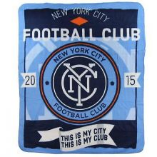 New York City FC Light Weight Fleece Blanket
