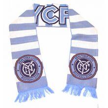 MLS NYC Football Club Thick Stripe Fringed Scarf