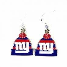 New York Giants Beanie Style Dangle Earrings