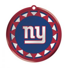 New York Giants Blown Glass Disk Ornament