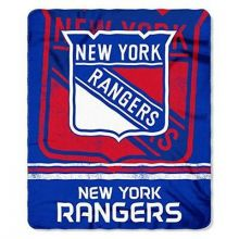 "New York Rangers Shadow Fleece Throw Blanket (50"" x 60"")"