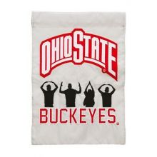 "Ohio State Buckeyes  12.5"" x 18"" Two Sided Applique Garden Flag"