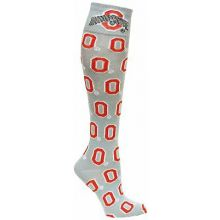 "Ohio State Buckeyes Gray ""O"" Repeater Dress Socks"