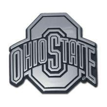 Ohio State Buckeyes  Real Chrome Metal Auto Emblem