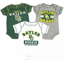NCAA Licensed Baylor Bears 3Pc. Bodysuit Creeper Crawler Set (18 Months)