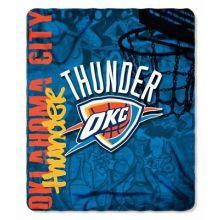 NBA OKC Thunder Hardknocks Fleece Throw Blanket