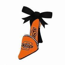 Oklahoma State Cowboys High Heeled Shoe Ornament
