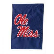 """Ole Miss Rebels  12.5"""" x 18"""" Two Sided Applique Garden Flag"""