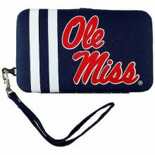 Ole Miss Rebels Distressed Wallet Wristlet