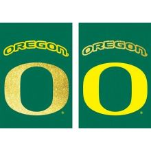 "Oregon Ducks Vertical Flag Size: 43"" H x 29"" W"