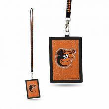 Baltimore Orioles Beaded Lanyard I.D. Wallet