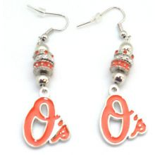 Baltimore Orioles Euro Bead Earrings