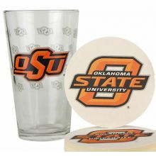 Oklahoma State Cowboys Pint and Coaster Set