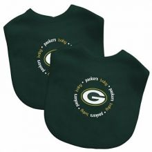 Green Bay Packers 2 Pack Embroidered Baby Bib Set