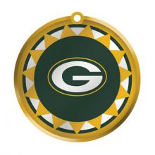 Green Bay Packers Blown Glass Disk Ornament