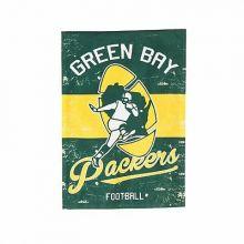 "Green Bay Packers Vintage Linen Garden Flag 12.5"" X 18"""