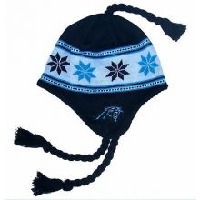 Carolina Panthers YOUTH Tassel Snowflake Beanie